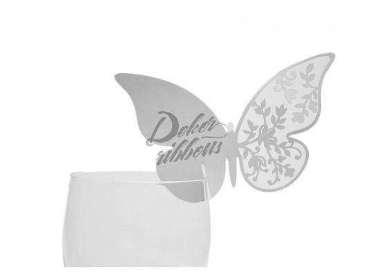 Vizitka na skleničku - motýl