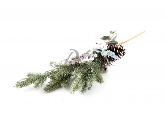 Větvička chvojí s šiškou a bobulemi