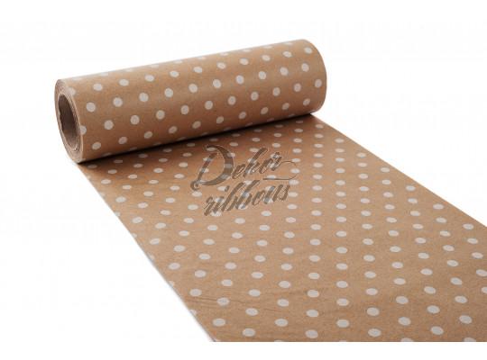 Hedvábný papír 20 cm, s puntíky