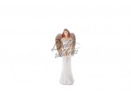 Anděl Ivanka se srdcem 15 cm