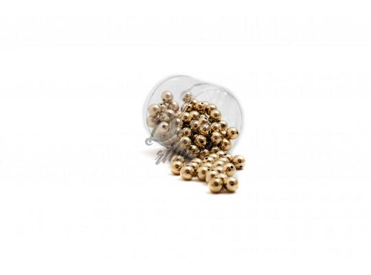 Perličky metalické 14 mm -zlatá
