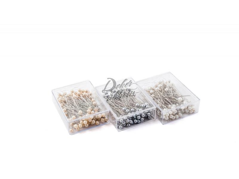 Špendlíky s perličkou 65 mm