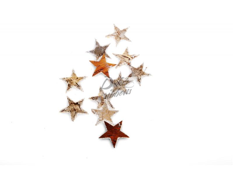 Hvězdičky z břízové kůry 6,5 cm