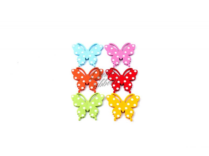 Motýl, nálepka 6 ks