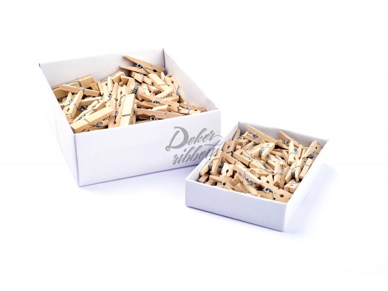 Kolíčky dřevěné, přírodní 30 mm