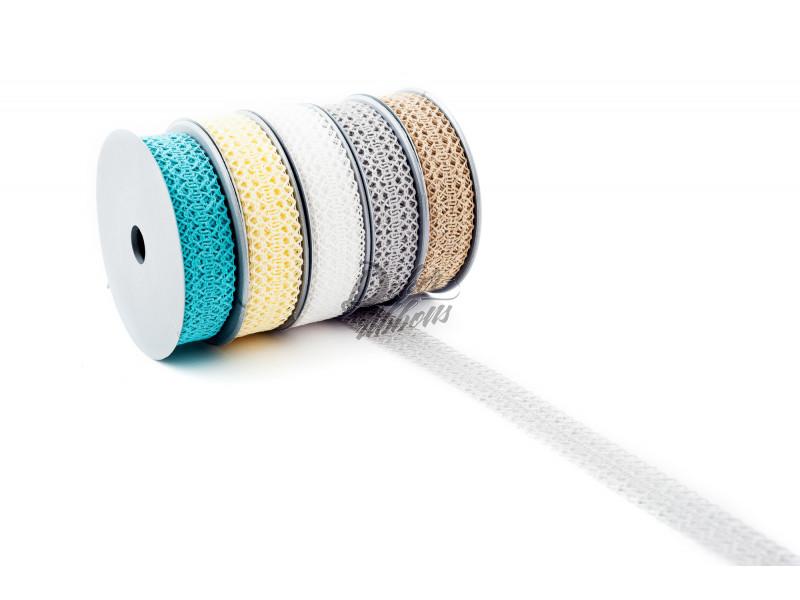 Stuha tkaná zig zag 2,5 cm