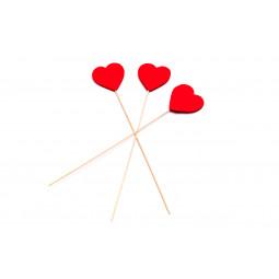 Dřevěné srdce 6 cm - 12 ks