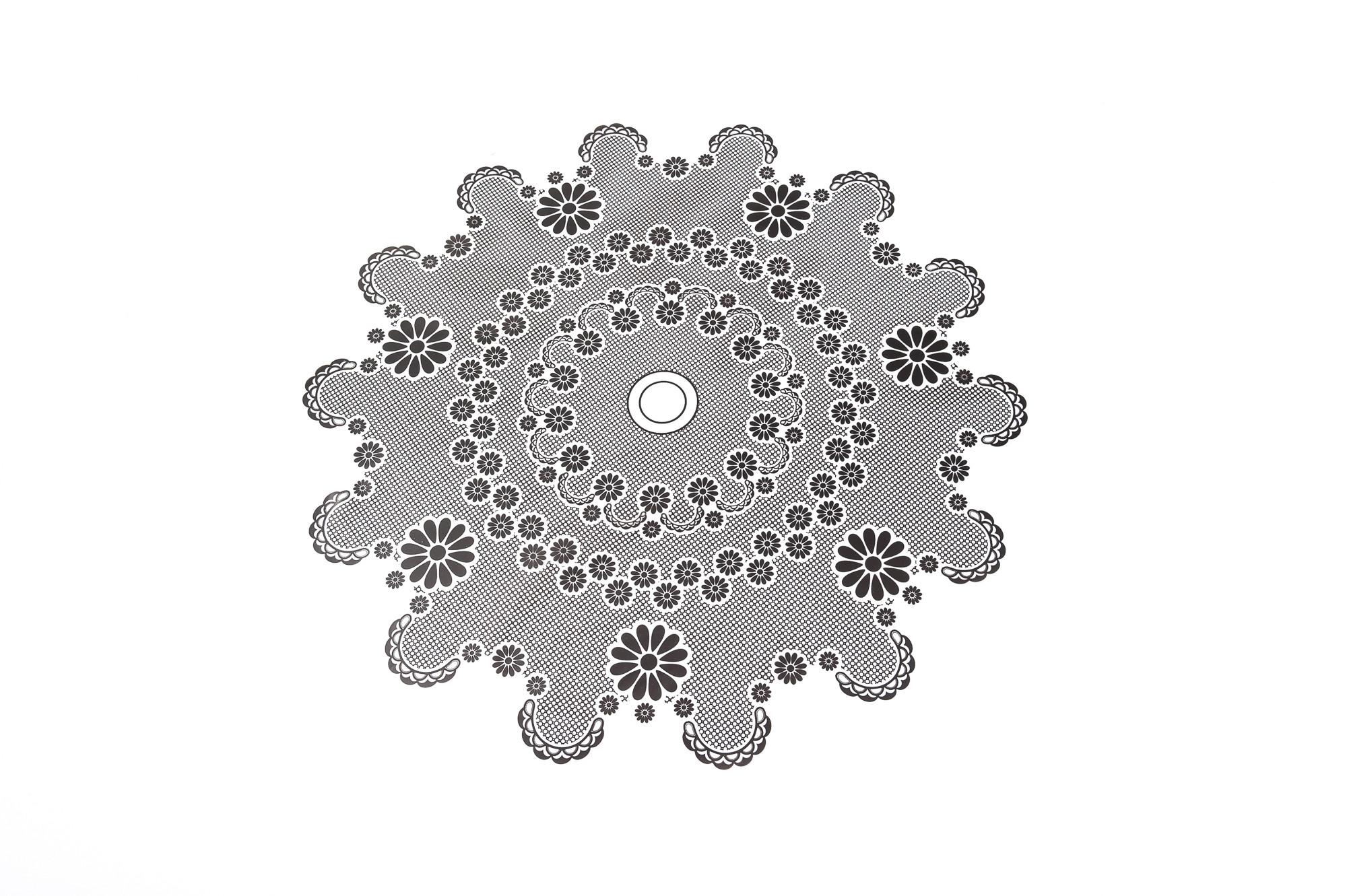 Celofánová manžeta, vzor krajka, 40 cm