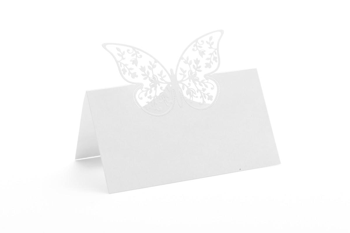 Vizitka na stůl - motýl