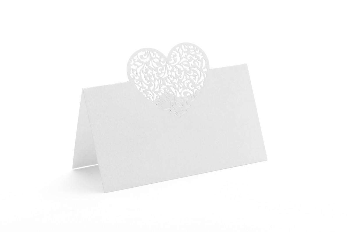 Vizitka na stůl - srdce