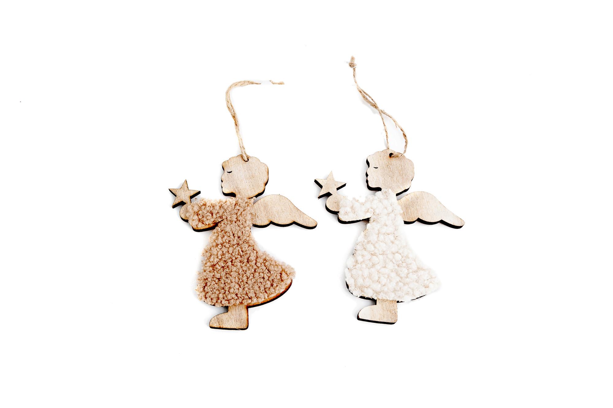 Dřevění andílci s hvězdičkou