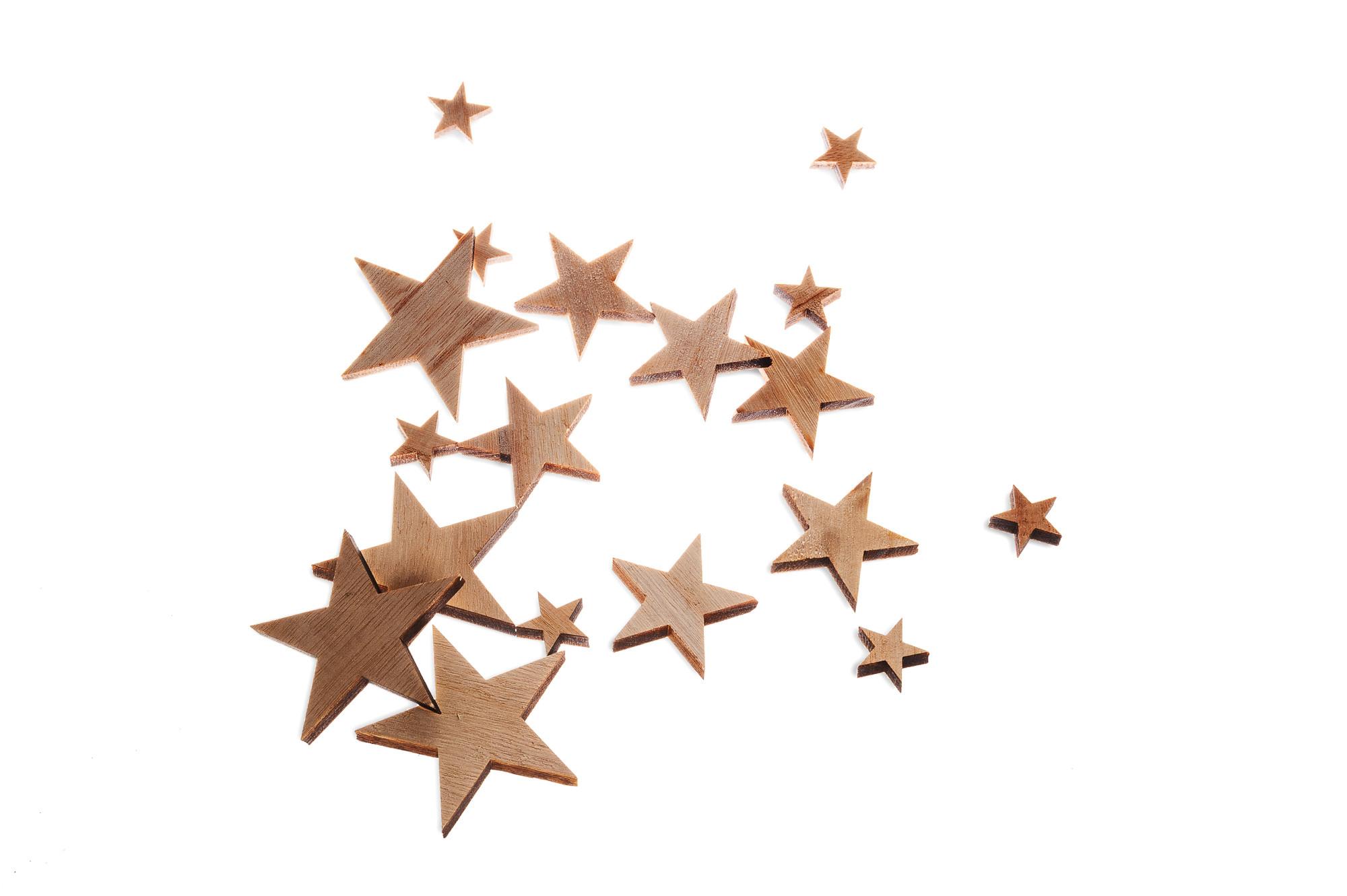 Dřevěná dekorace - hvězdy
