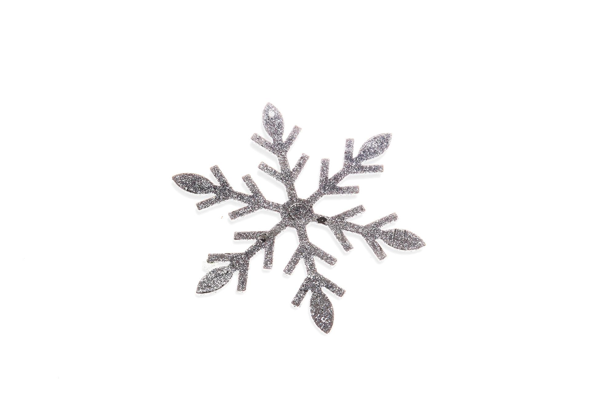 Plátky sněhu, stříbrné