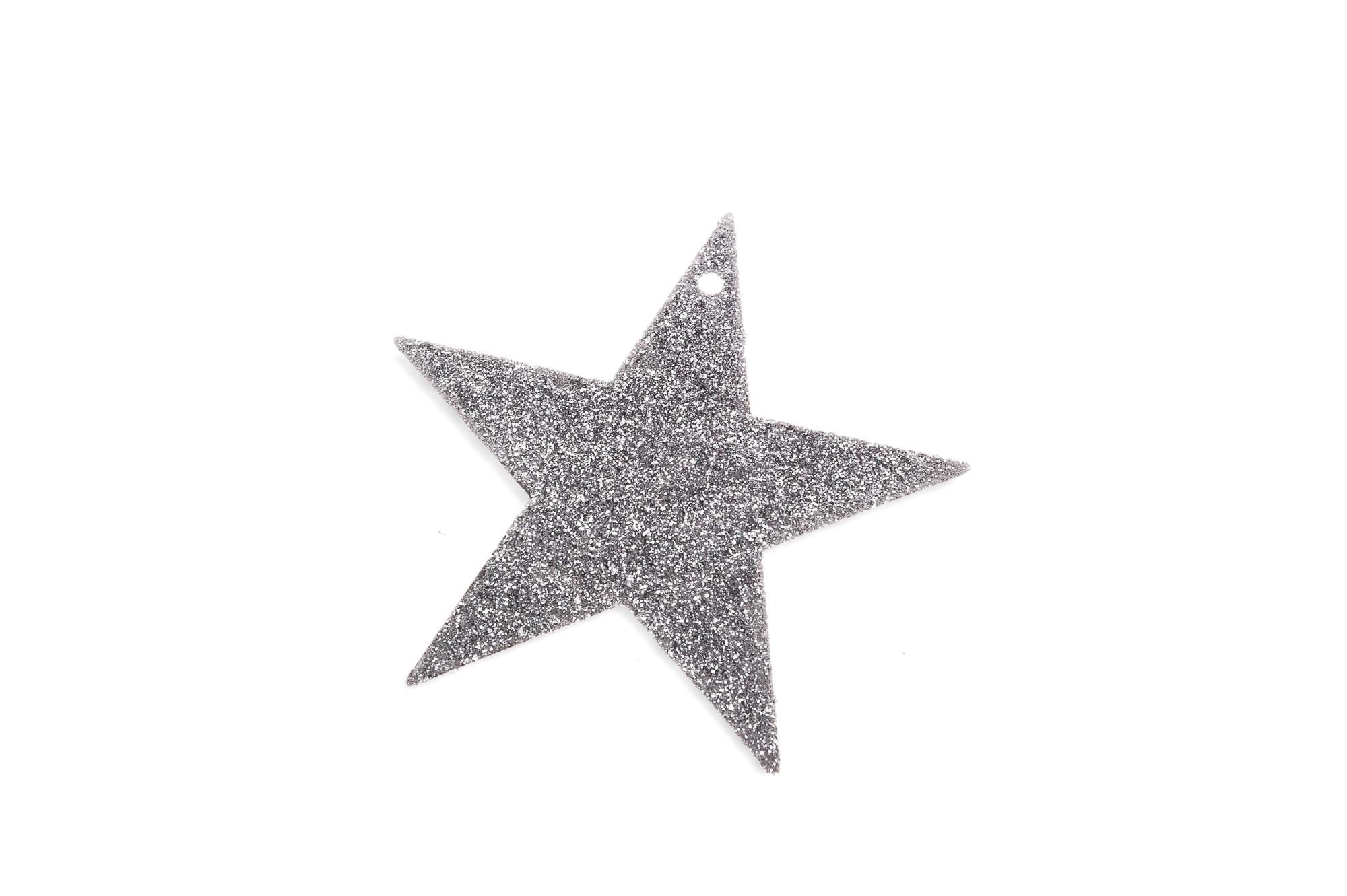 Stříbrné hvězdy 10 cm