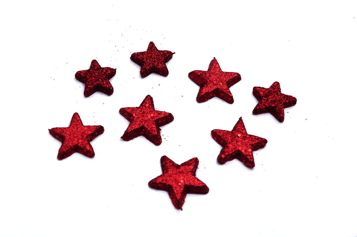 Hvězdičky 5 cm + 4 cm, 48 ks