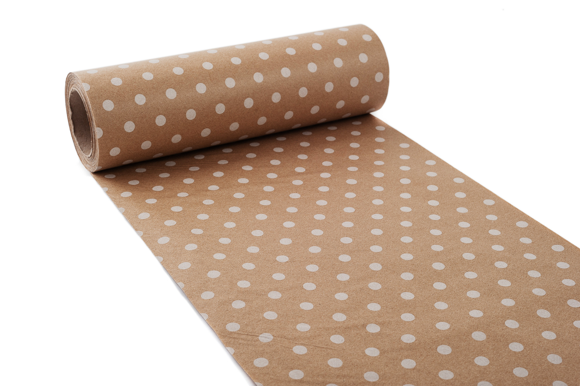 Hedvábný papír 25 cm, s puntíky