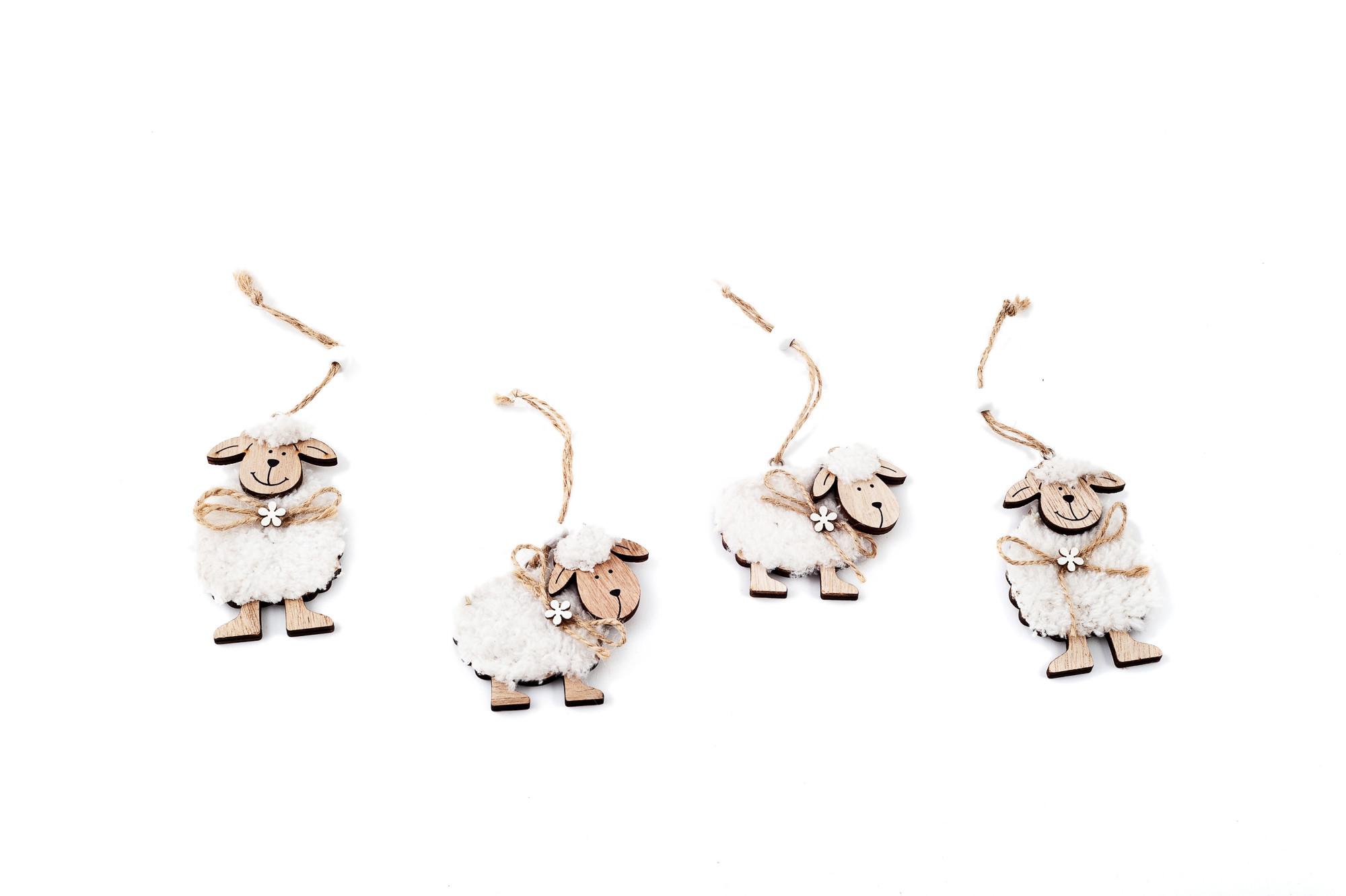Ovečky, na zavěšení 4 ks