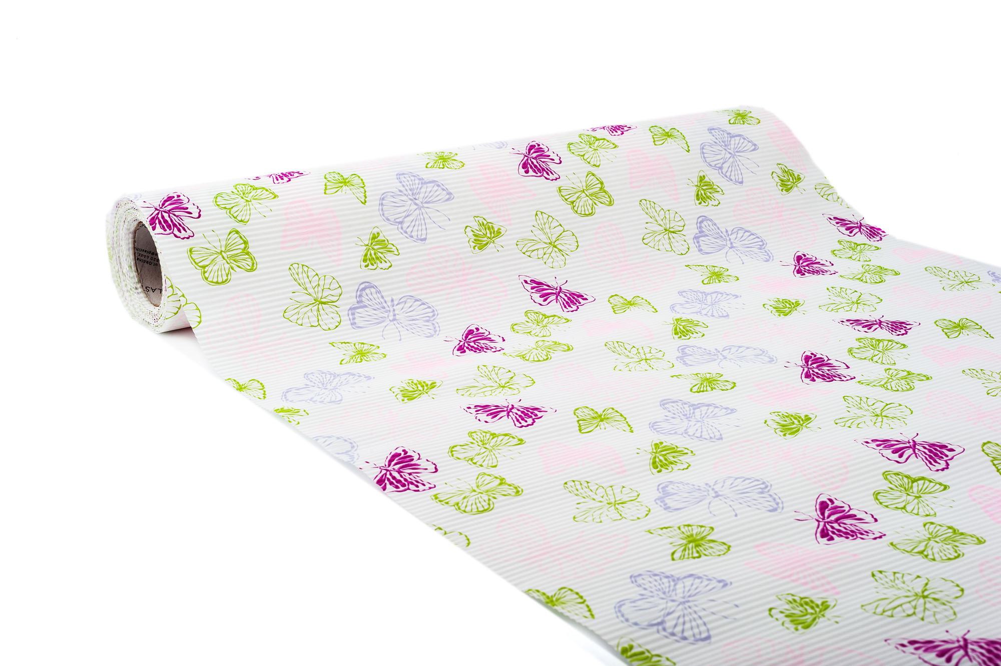 Papír - Motýl, 50 cm - růžová