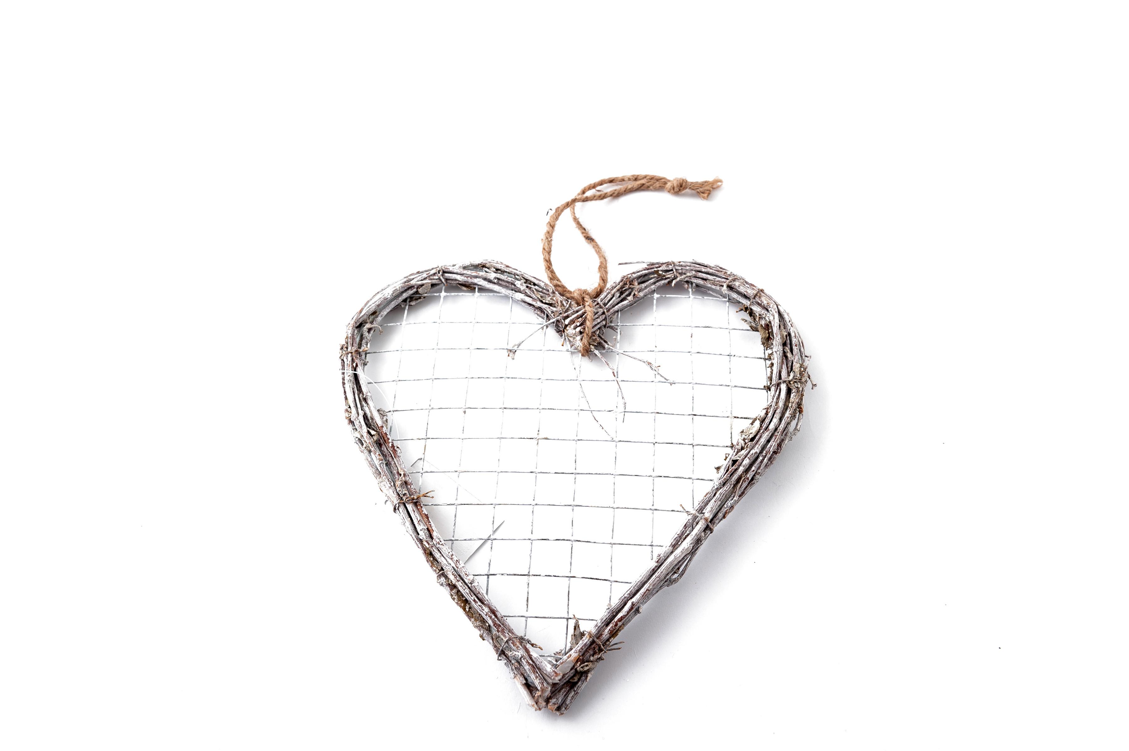 Proutěné srdce 20 cm