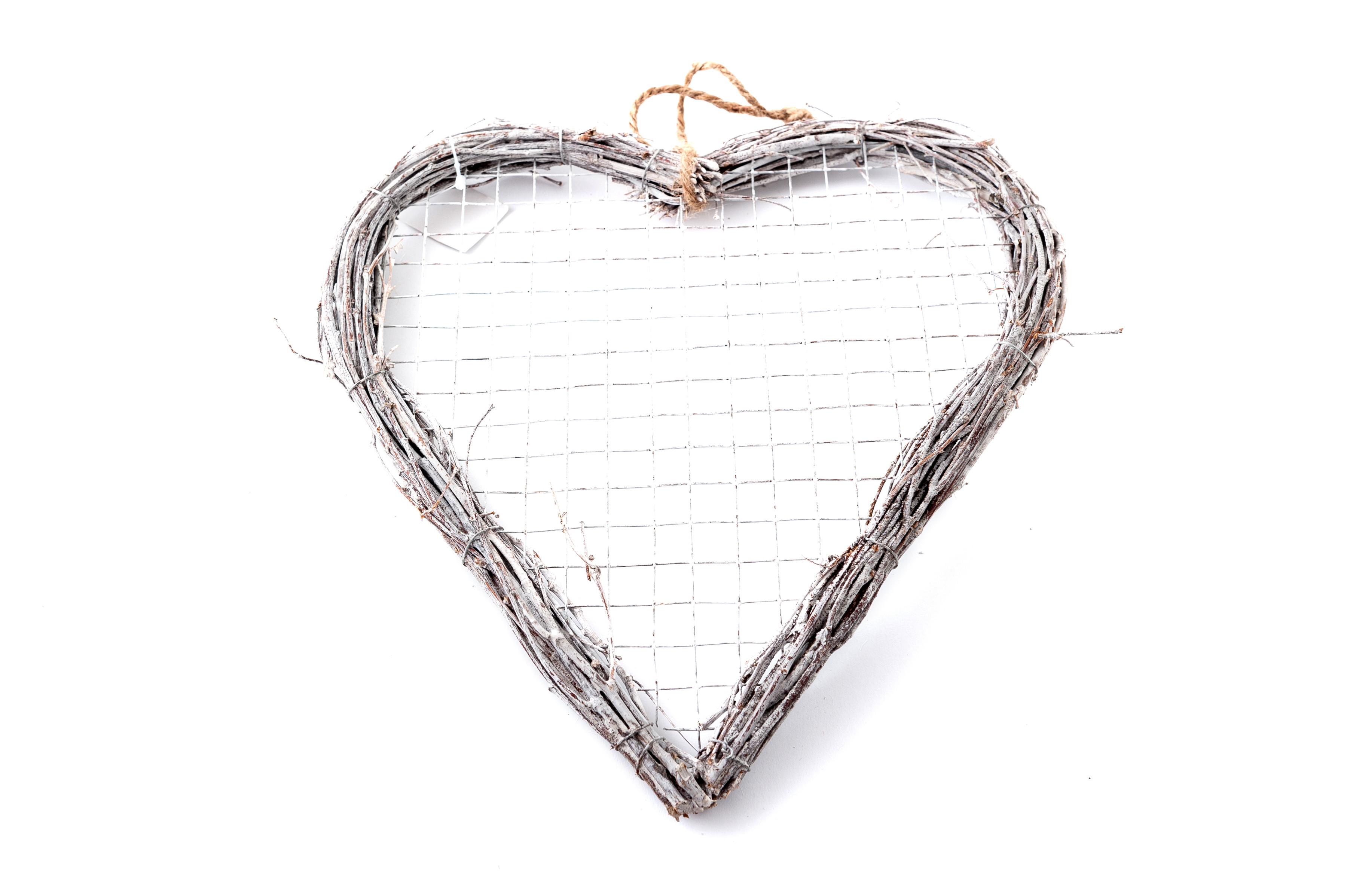 Proutěné srdce 28 cm