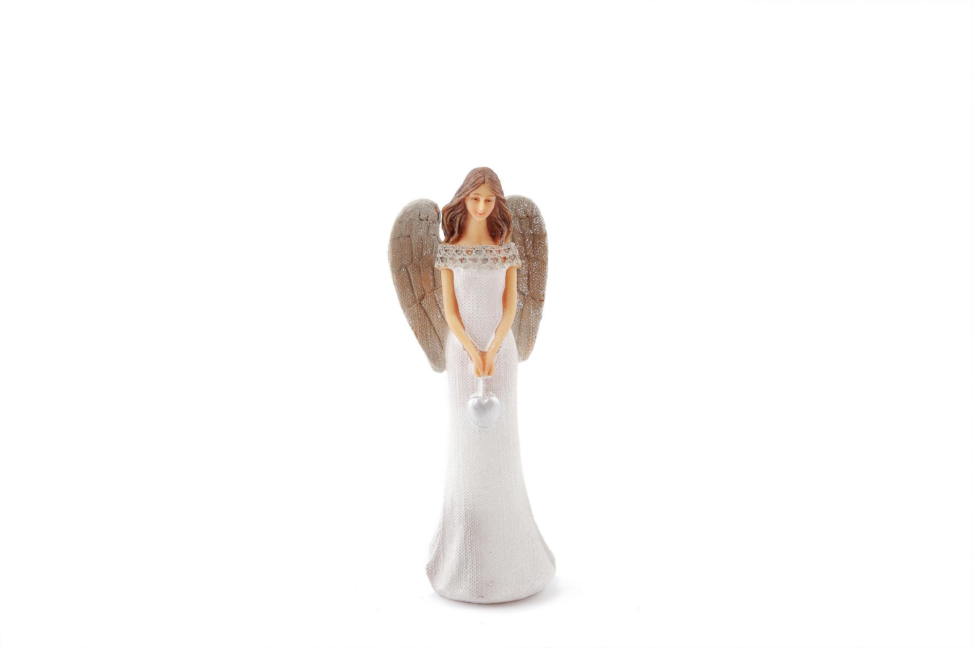Anděl Ivanka se srdcem 21 cm