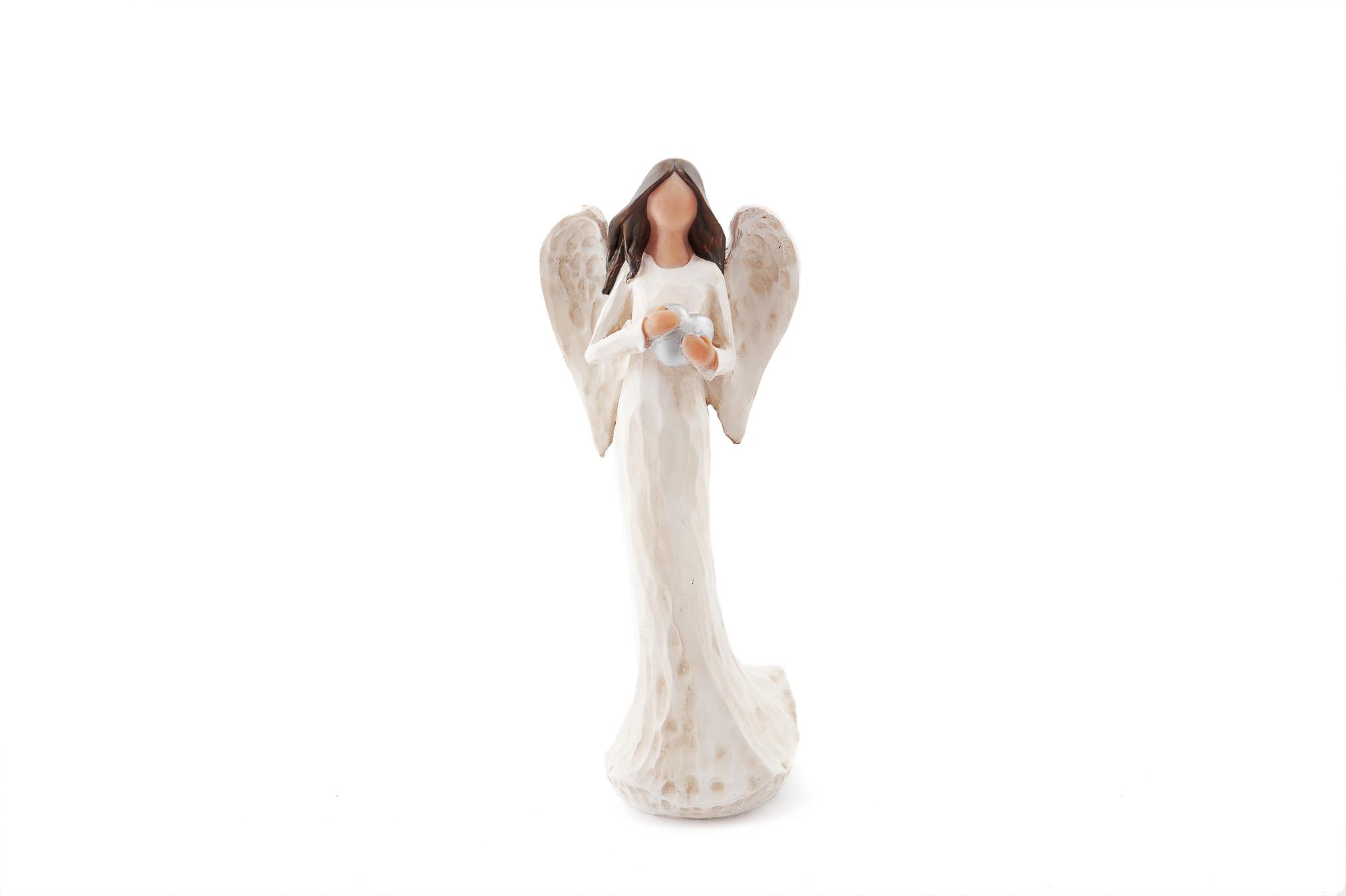 Anděl Vlaďka se srdíčkem, 25 cm