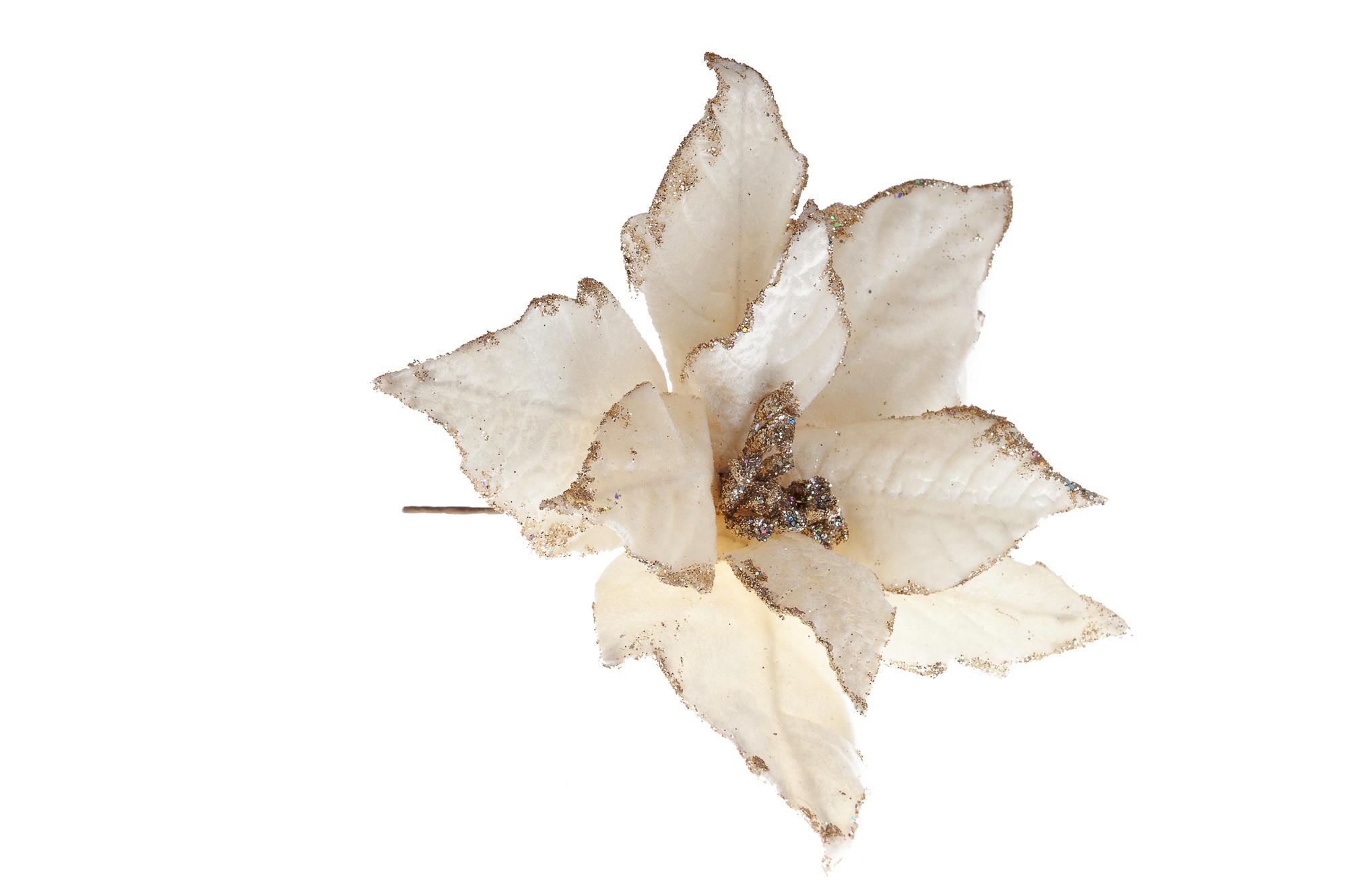 Květ s třpytkami, zápich