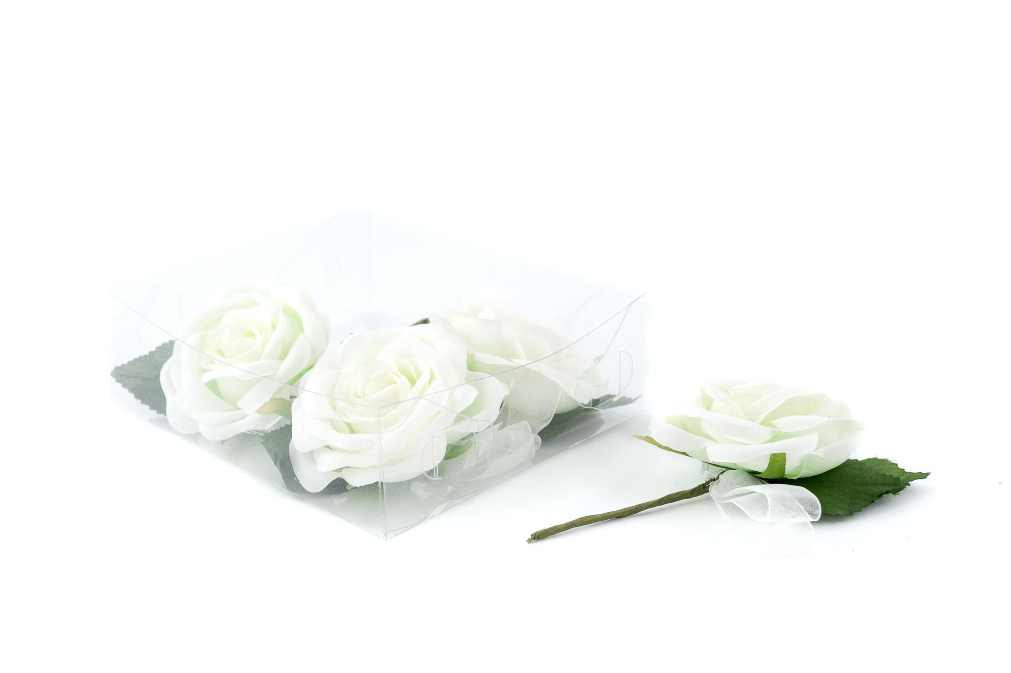 Růže 6 cm, 4 ks