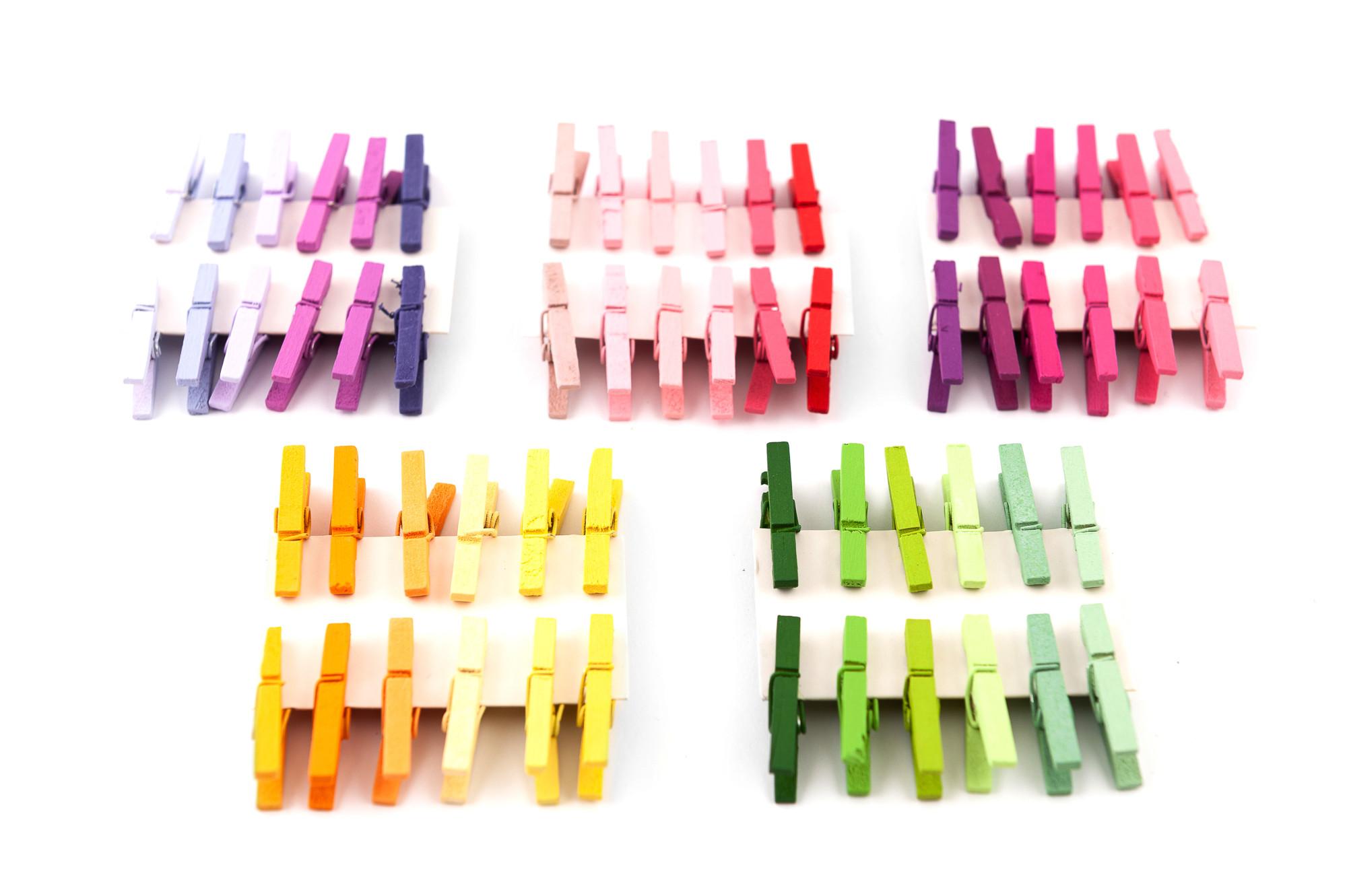 Barevné kolíčky 3 cm, 12 ks