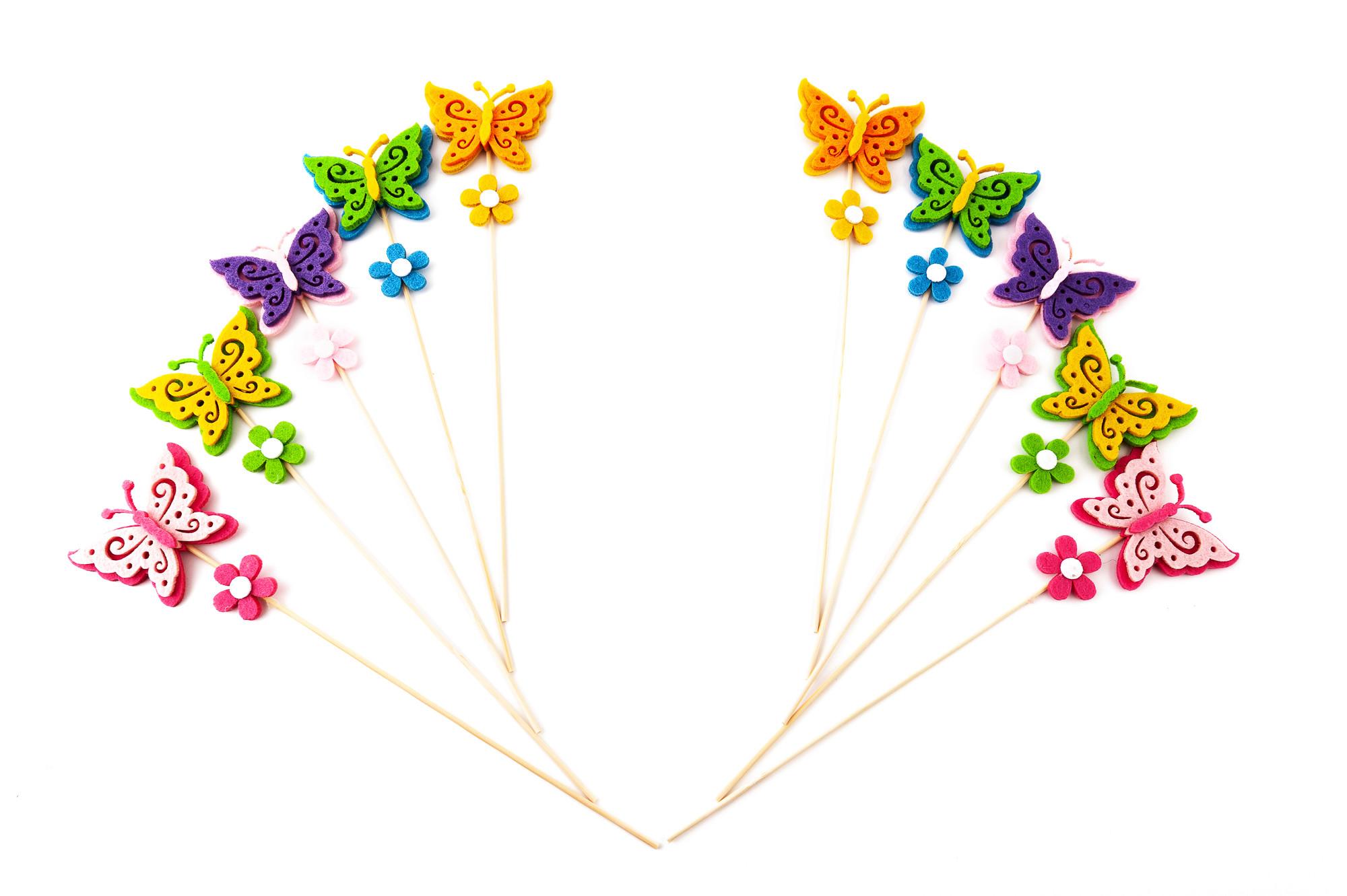 Motýl ,zapichovátko 10 ks