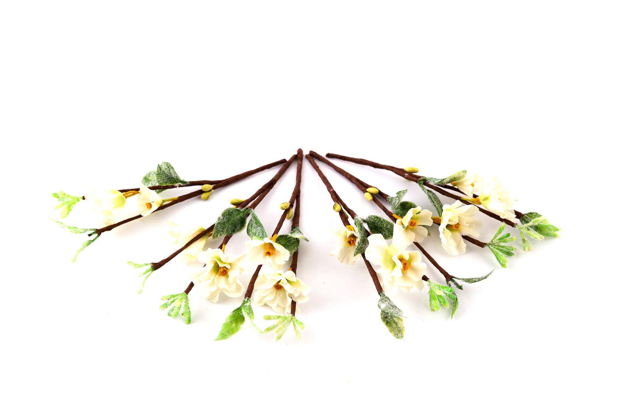 Kvetoucí větvičky jabloně, 6 ks