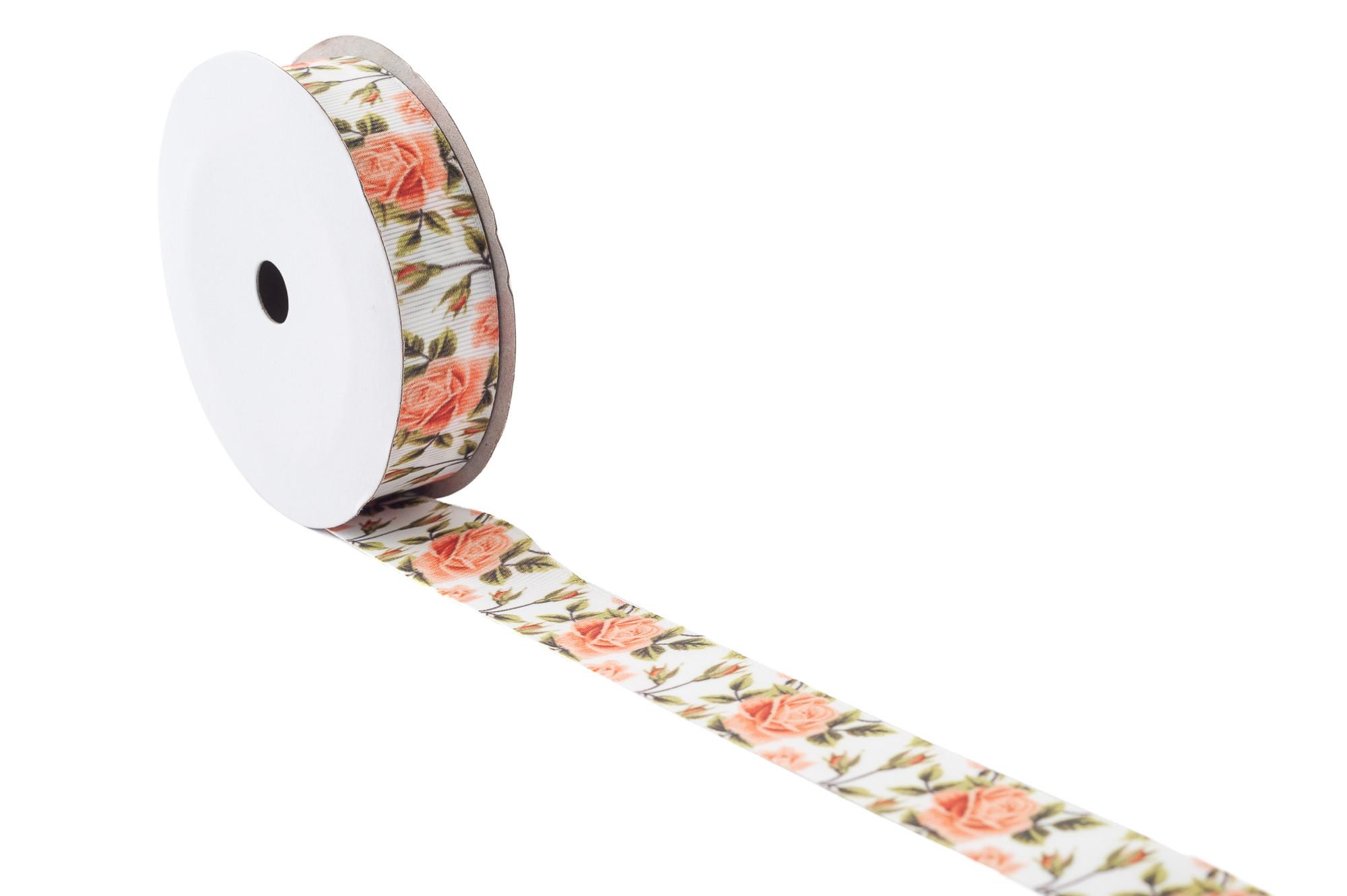Rypsová stuha - čajová růže, 9 m