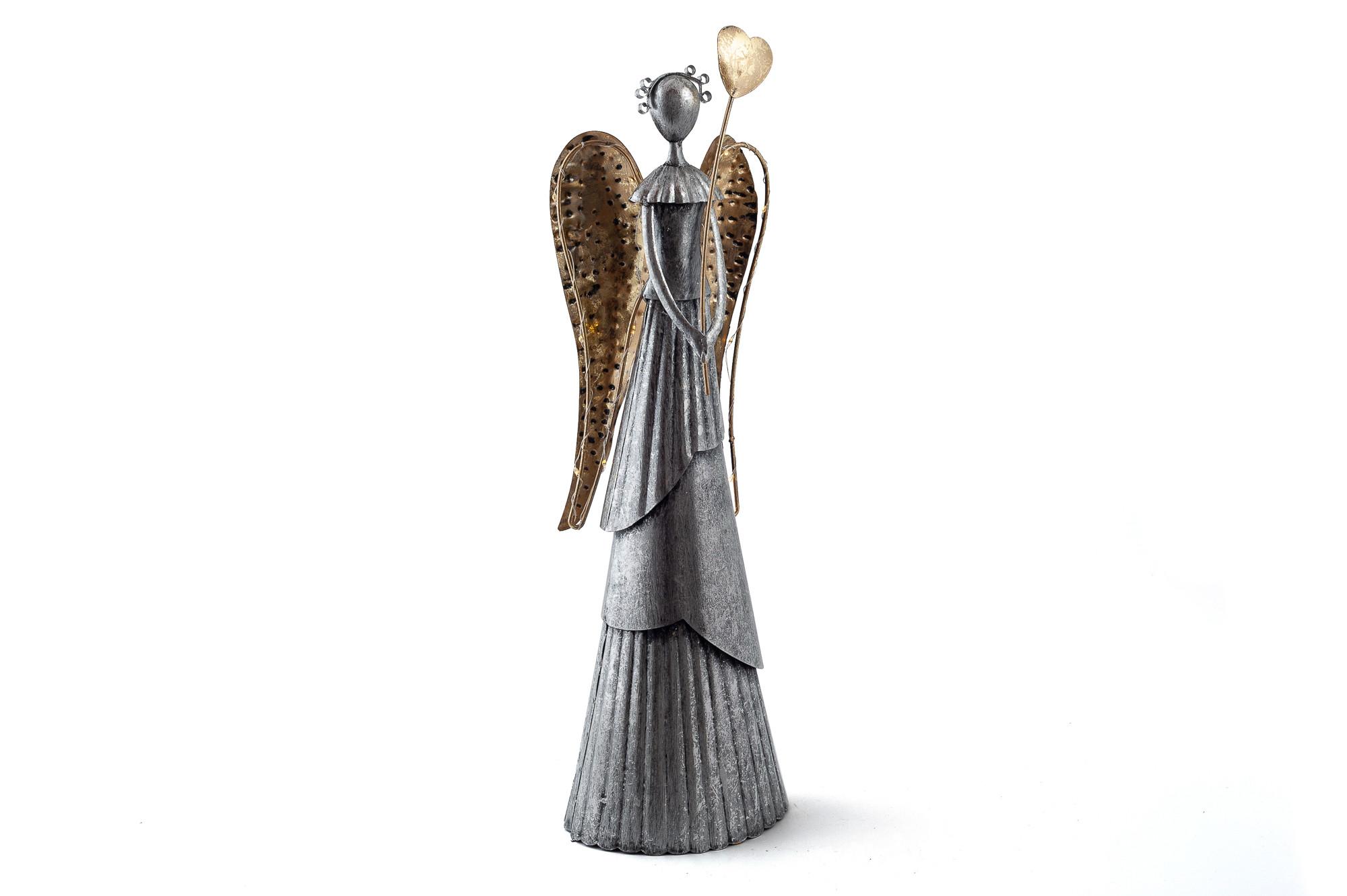 Kovový anděl Florence 66 cm