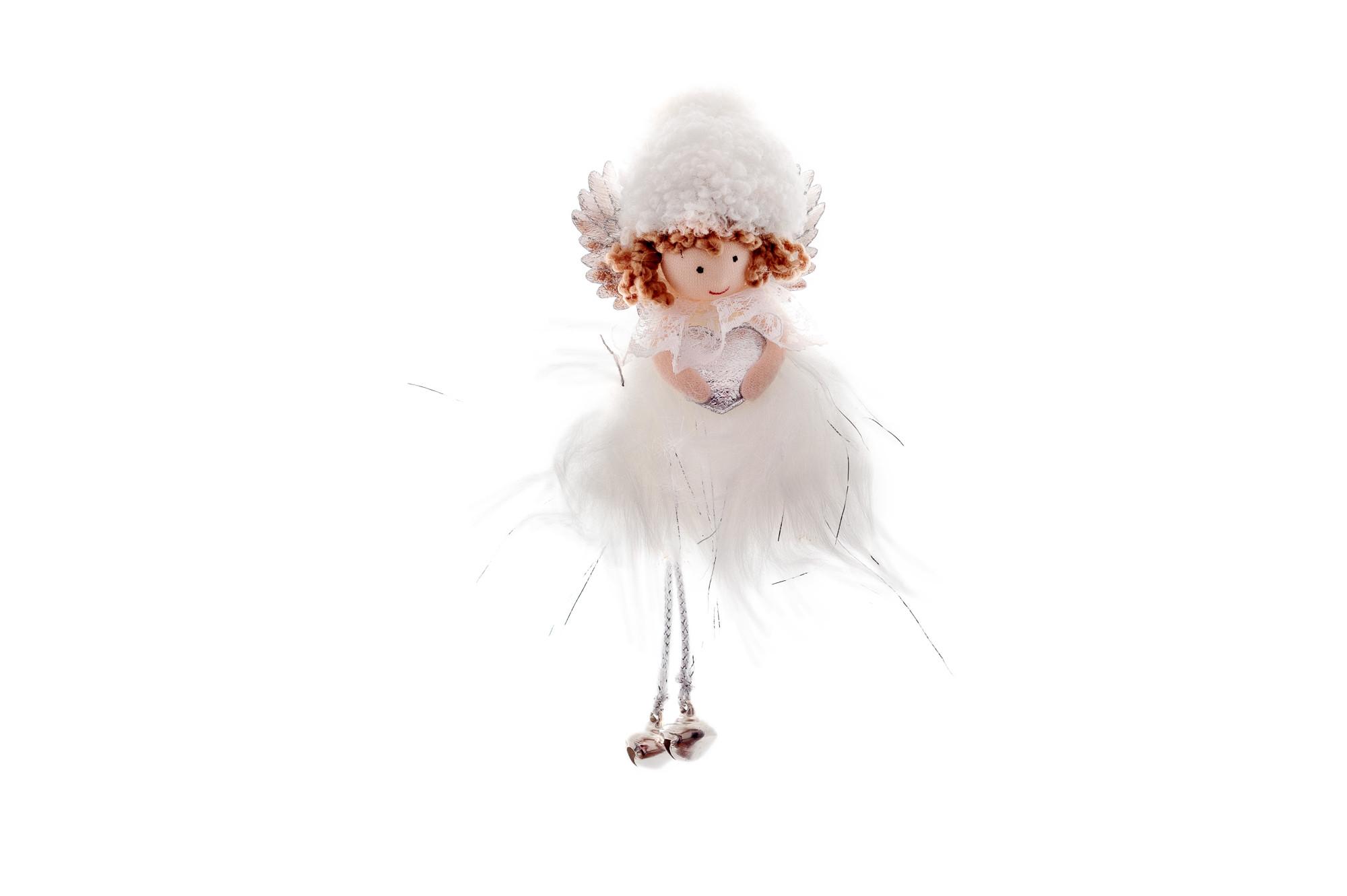 Anděl Lily s rolničkami, 16 cm