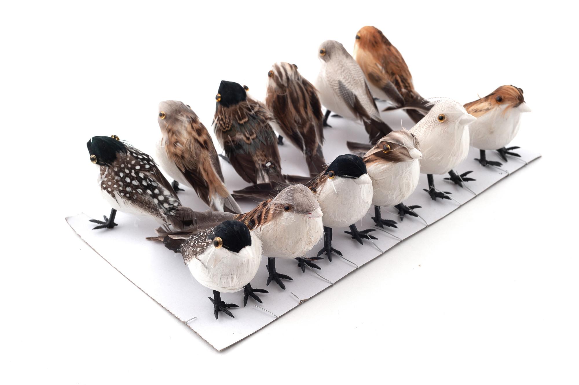 Ptáci 9 cm, 12 ks