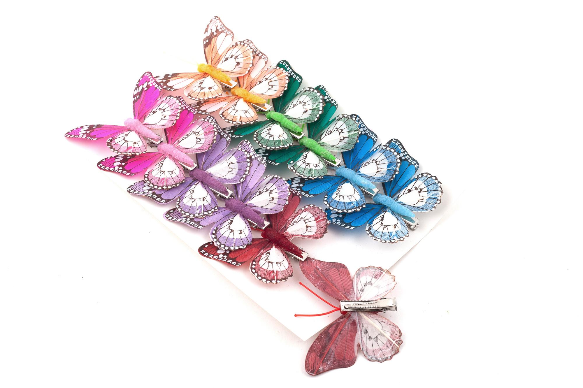 Motýl 8 cm, 12 ks
