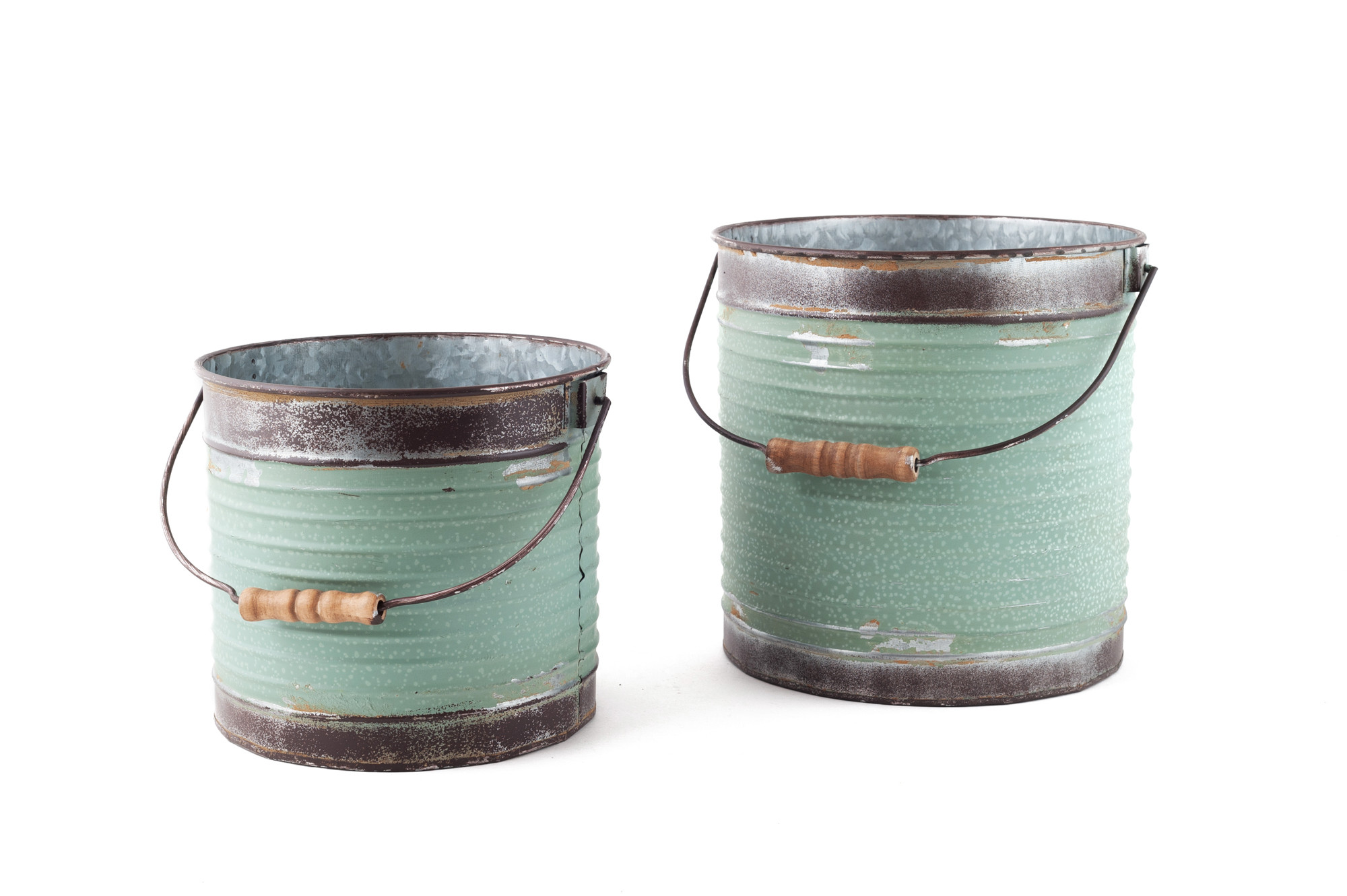 Plechový kbelík, 2 ks