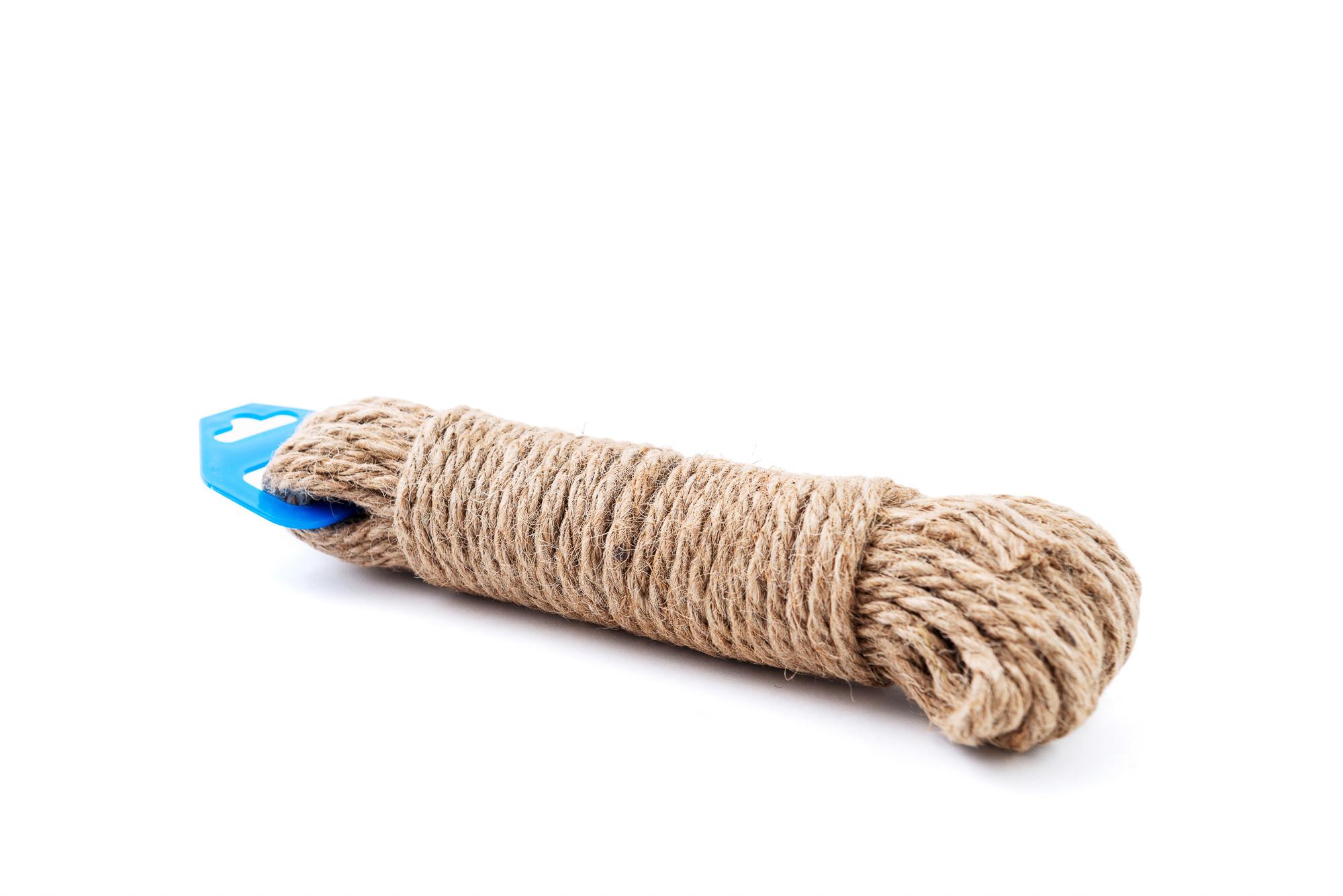 Přírodní lano 6 mm, 10 m