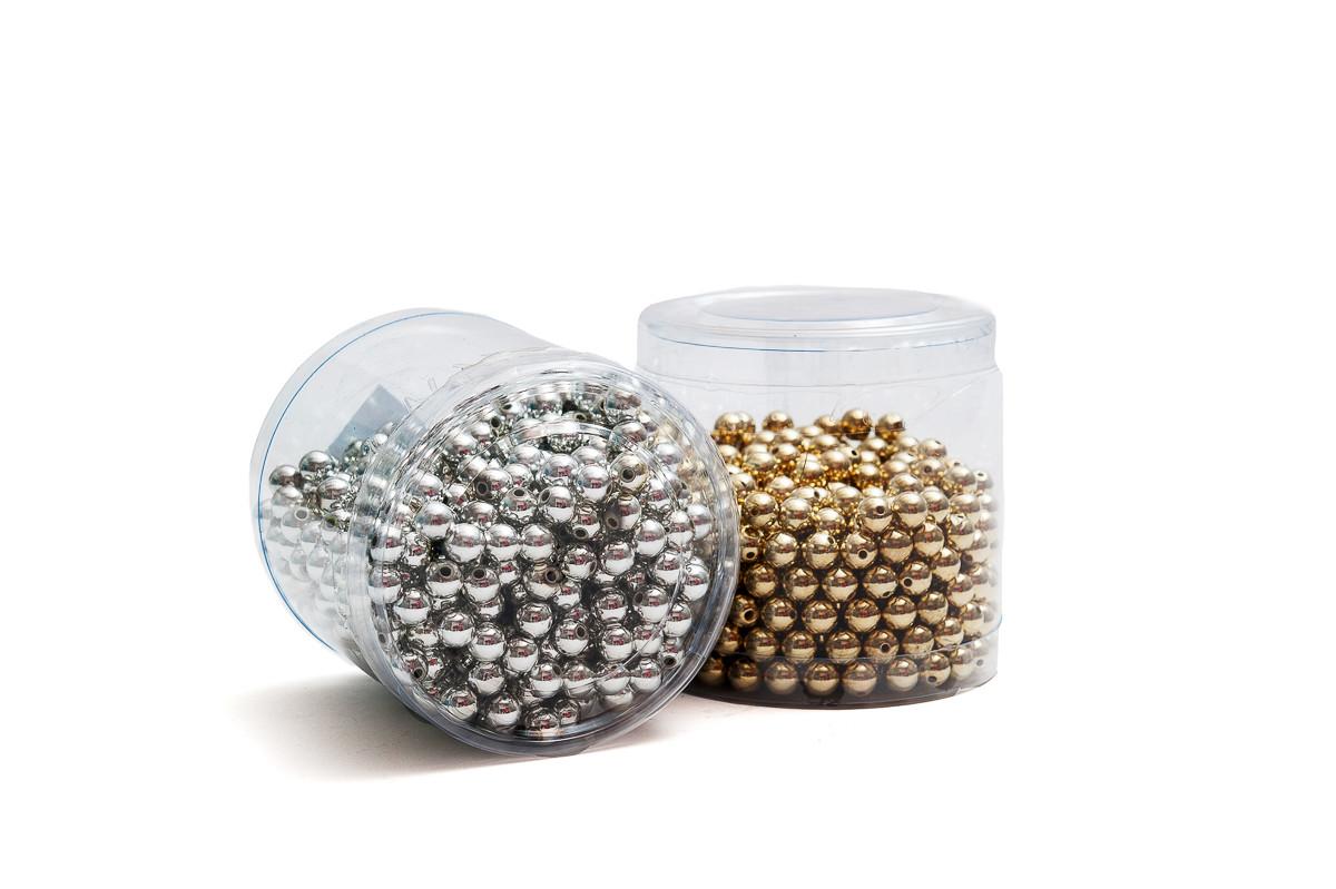Metalické perličky 10 mm