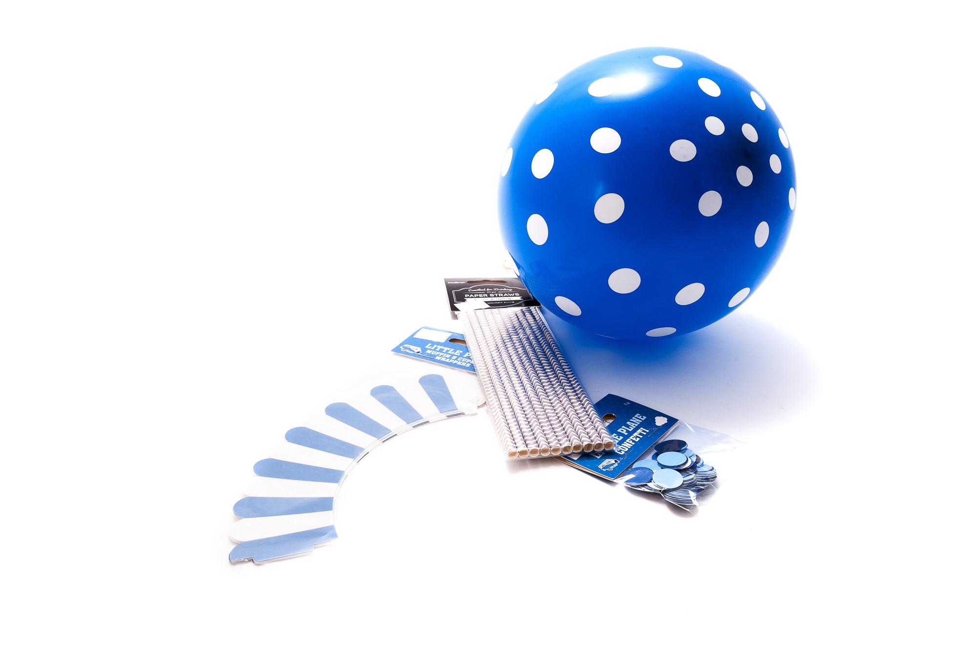 Party set - modrý