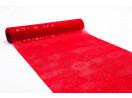 Juta s vločkami, lesk 36 cm červená