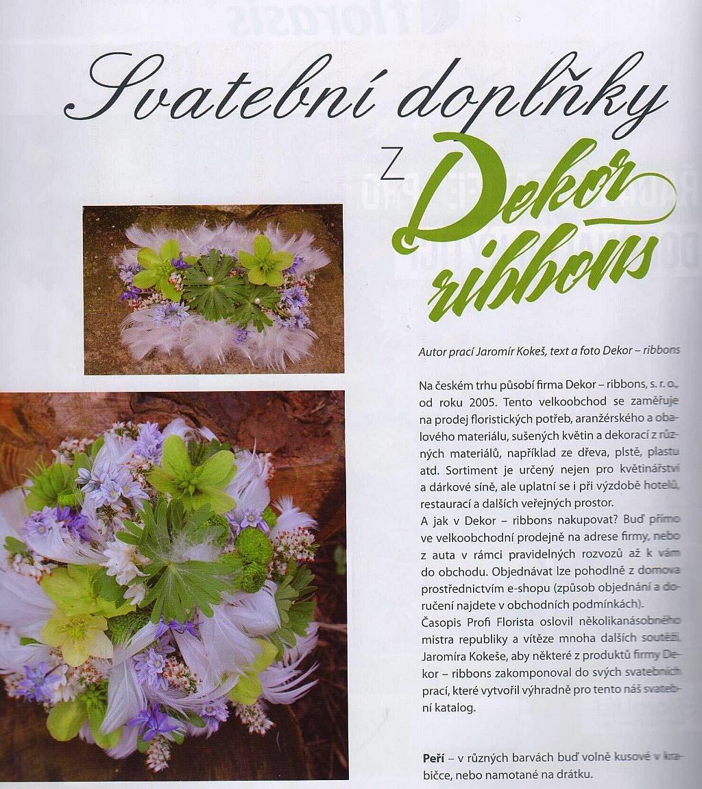 svatební dekorace - časopis Profi Florista